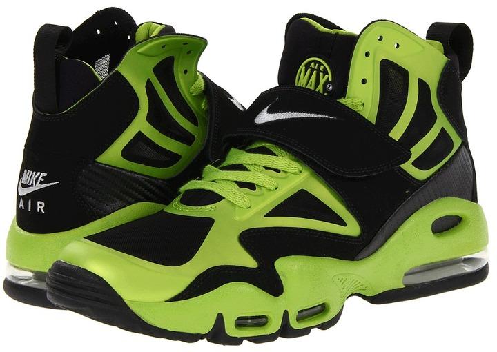 Nike Air Max Express (Black/Brilliant Green/White/Metallic Silver) - Footwear