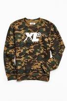XLarge Camo Fleece Crew Neck Sweatshirt