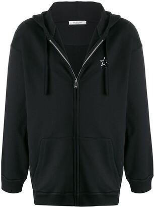 Valentino VLTNSTAR zipped hooded jacket