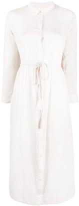 Semi-Couture Tie Waist Shirt Dress