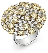 Roberto Coin White & Yellow Diamond Cluster Ring in 18K Yellow & White Gold