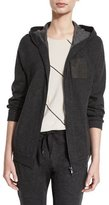 Brunello Cucinelli Monili-Pocket Hooded Jacket, Anthracite