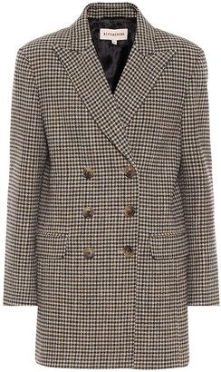 ALEXACHUNG Jerry houndstooth cotton-blend blazer