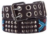 Balmain Embellished Canvas Belt