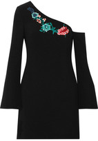 Rachel Zoe Harper One-shoulder Embellished Crepe Mini Dress - Black