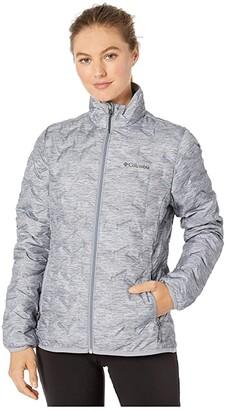 Columbia Delta Ridgetm Down Jacket (Tradewinds Grey/Heather Print) Women's Coat