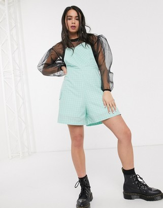 The Ragged Priest playsuit in mint check