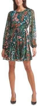 Tommy Hilfiger Printed Chiffon Fit & Flare Dress