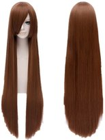 "tinked 39""ikkitousen Anime Wig Long Straight Cosplay Hair Wigs"