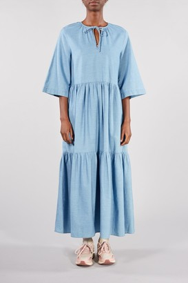 Selected BABY BLUE JOY ANKLE DRESS - 34