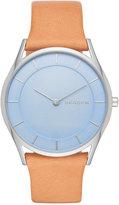 Skagen Women's Slim Holst Natural Leather Strap Watch 34mm SKW2451