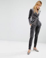 Fashion Union Velvet Suit Pant Co-Ord