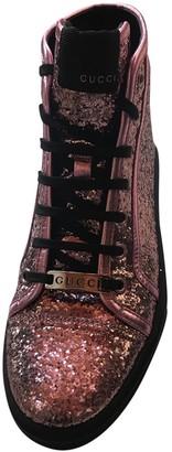 Gucci Pink Glitter Trainers