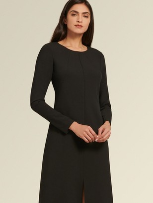 DKNY Donna Karan Women's Long Sleeve Front Slit Dress - Black - Size 0