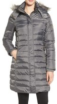Sam Edelman Women's Faux Fur Trim Down & Feather Fill Puffer Coat