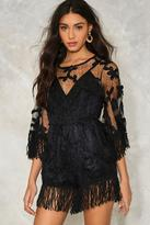 Nasty Gal nastygal Make an Entrance Fringe Romper