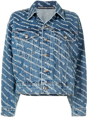 Alexander Wang Logo Print Denim Jacket