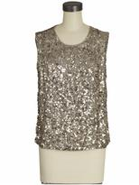 Hammered Sequin Tank