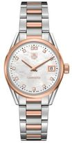 Tag Heuer Carrera Diamonds, Steel and 18K Rose Gold Bracelet Watch