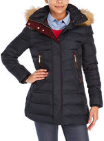 Vince Camuto Faux Fur Trim Hooded Down Coat