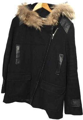 La Petite Francaise Navy Wool Coat for Women