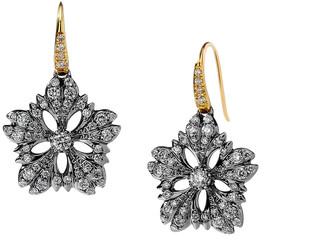 Syna Diamond Flower Drop Earrings