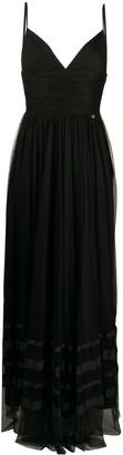 Liu Jo empire-line tulle maxi dress