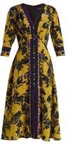 Saloni Eve V-neck silk crepe de Chine dress