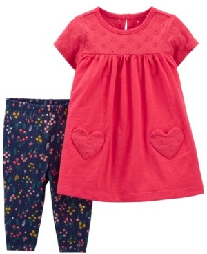 Carter's Baby Girls Jersey Dress and Legging Set, 2 Pieces