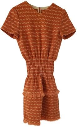 Maje Orange Cotton Dresses