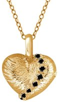 Gem Stone King 0.26 Ct Round Diamond 14K Yellow Gold Pendant