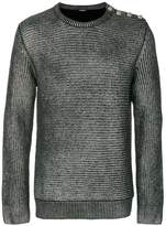 Balmain metallic ribbed sweater