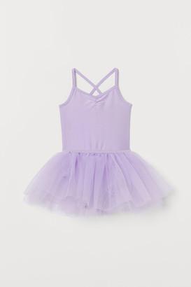 H&M Leotard with Tulle Skirt - Purple