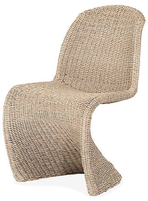 One Kings Lane Paulina Outdoor Dining Chair - Natural