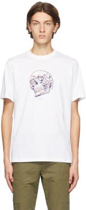 Paul Smith White Trippy Skull T-Shirt