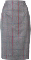 Carolina Herrera Tartan check pencil skirt