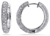 Concerto Diamond Sterling Silver Hoop Earrings