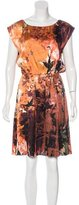 Alice + Olivia Silk Abstract Print Dress