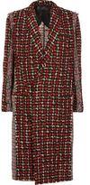Haider Ackermann Paneled Wool-Blend Tweed Coat