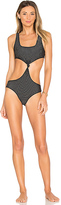 Acacia Swimwear Mesh Colombia One Piece in Black. - size S (also in )