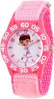 Disney Doc McStuffins Girls Pink Strap Watch-Wds000286