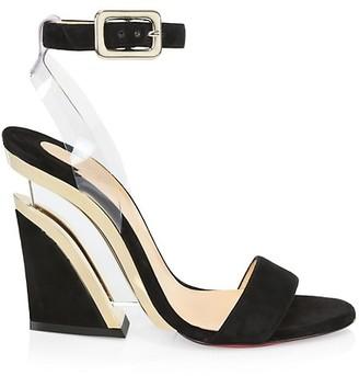Christian Louboutin Levitalo Suede & PVC Sandals