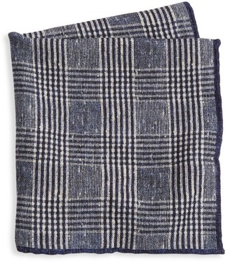 Brunello Cucinelli Plaid Wool Pocket Square