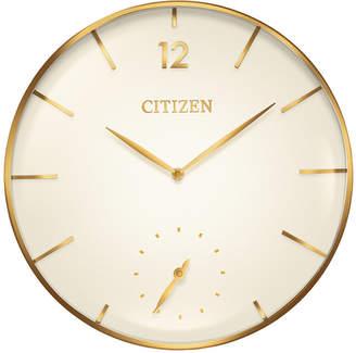 Citizen Gallery Gold-Tone Wall Clock