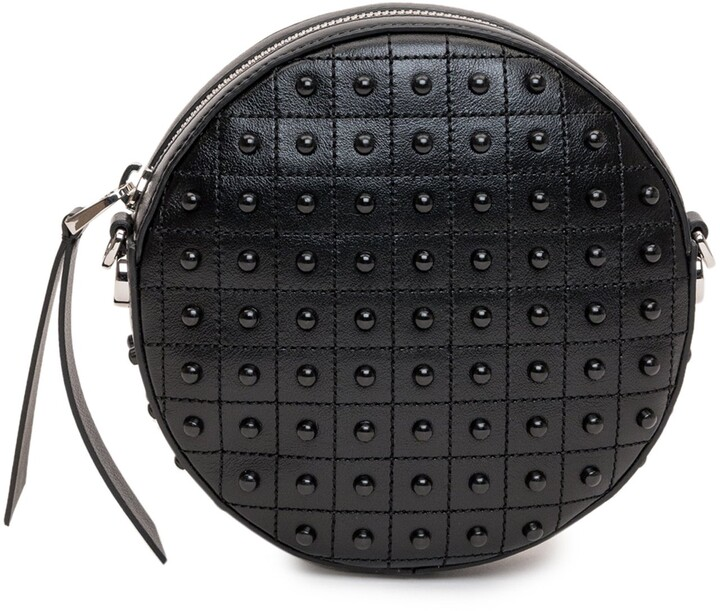 Thumbnail for your product : Tod's Pebble Studs Embellished Round Shoulder Bag