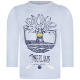 Timberland TimberlandBaby Boys Blue Organic Cotton Logo Top