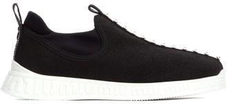 Miu Miu Meshed Embellished Sneakers