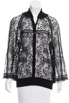 Chanel Lace Button-Up Top