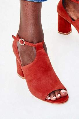 Oasis Womens Orange Peep Toe Shoe Boots - Orange