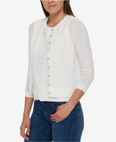 Tommy Hilfiger Lace-Front Cardigan, Only at Macy's
